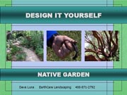 Design it Yourself Native Garden presentation page 1