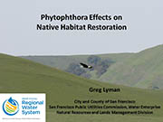 Phytophthora Effects on Native Habitat Restoration