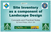 Site Inventory as a component of Landscape Design